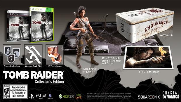 Novo Tomb Raider em sua edição de colecionador (Foto: Gematsu)