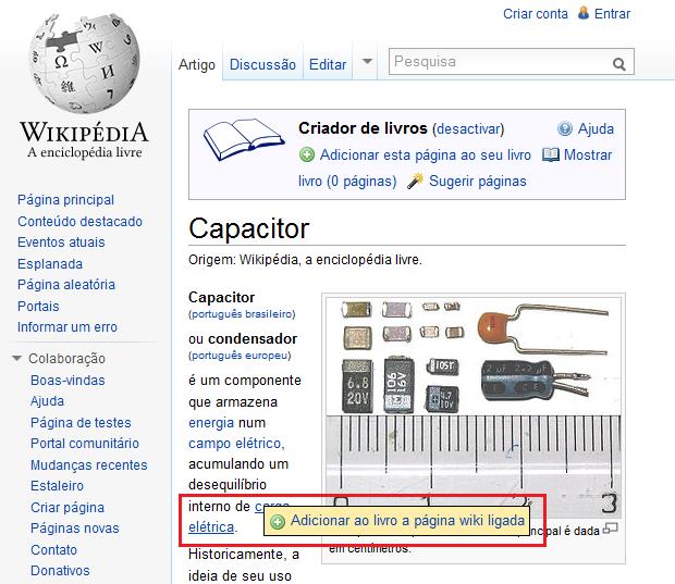 Adicionando um link para colocar a página no criador de livros (Foto: Reprodução/Edivaldo Brito)