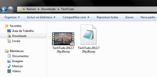 A legenda e o vídeo devem ter o mesmo nome de arquivo (Foto: Reprodução)