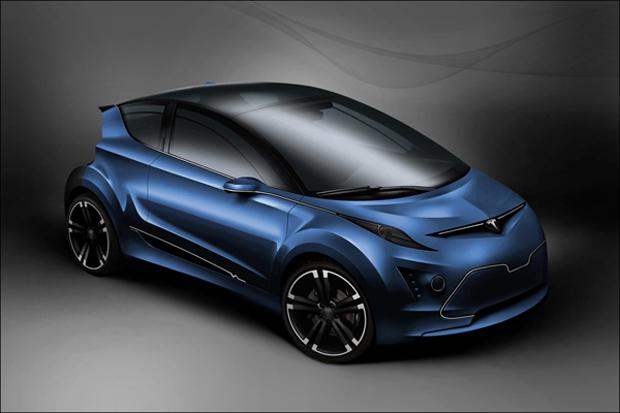 Carro conceitual leva a marca da Tesla