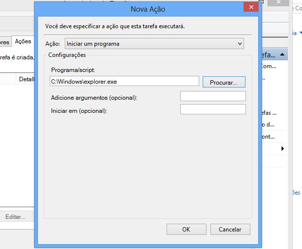 Selecionando aplicativo a ser aberto ao iniciar o Windows (Foto: Reprodução/Helito Bijora)