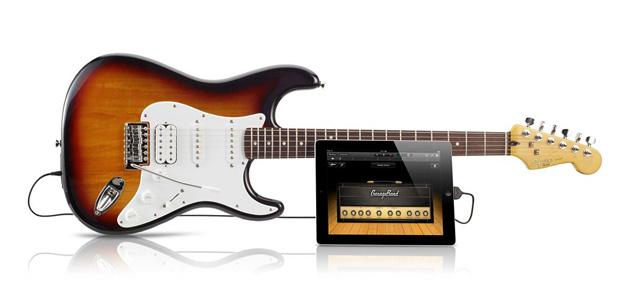A Fender USB Stratocaster Guitar vem com cabo para conexão com dispositivos móveis e computadores (Foto: Divulgação)