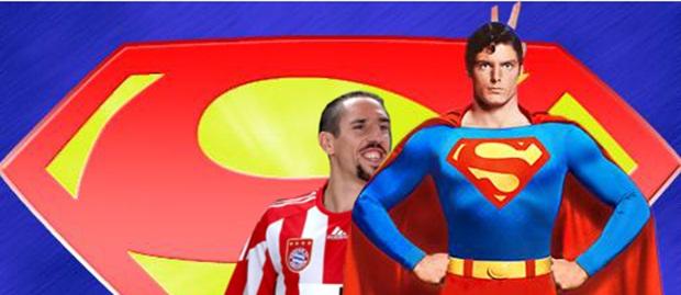 Montagem de fotos criada no Gimp com desenho do Super-Homem (Foto: Reprodução/Raquel Freire)