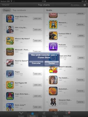 AppStore fora do ar (Foto: Reprodução/TechTudo)