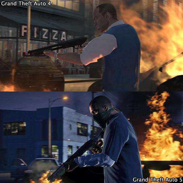 Os efeitos de fogo em GTA 5 ganharam mais definição (Foto: GamingBolt) (Foto: Os efeitos de fogo em GTA 5 ganharam mais definição (Foto: GamingBolt))
