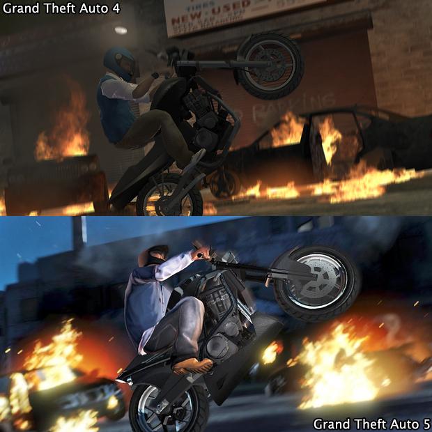 Dessa vez GTA 5 leva a melhor sobre duas rodas (Foto: GamingBolt)