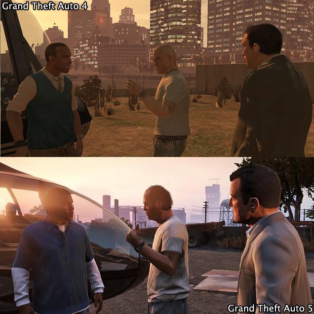 Além de visual melhor os protagonistas de GTA 5 trazem carisma (Foto: GamingBolt)