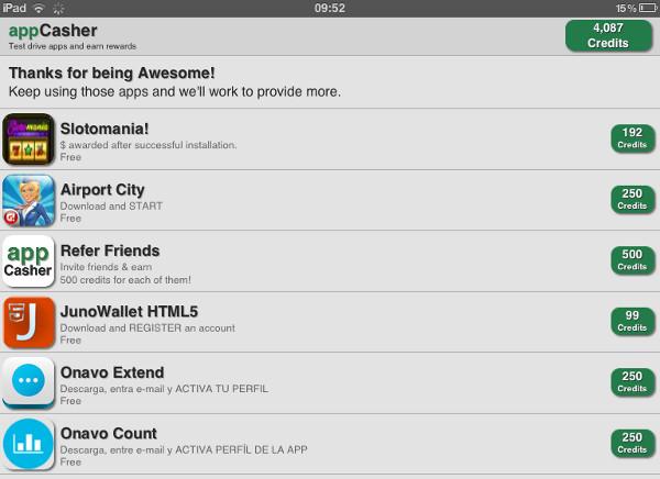 AppCasher tem remuneração lenta, mas muitas opções de aplicativos para baixar (Foto: Divulgação)