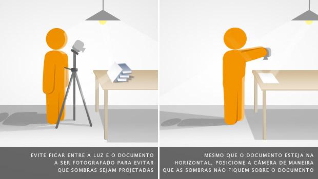 Posição ideal para fotografar, evitando ficar entre os pontos de luz e o objeto (Foto: Adriano Hamaguchi)