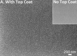 Cobertura ajuda polímero a formar padrões ainda menores (Foto: Reprodução)