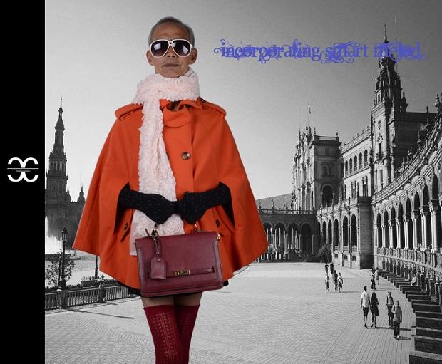 Vovô posa cheio de estilo para catálogo de loja (Foto: Divulgação)