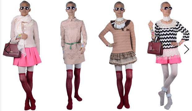 Idoso veste diferentes combinações de roupas (Foto: Divulgação)