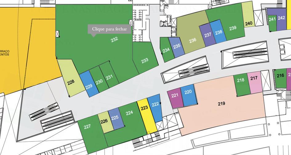 Outra provável localização da Apple Store: marcada com a cor salmão, este ponto é maior e também a única da categoria no shopping (Foto: Divulgação)