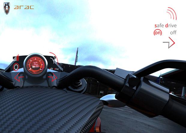 Supermoto conceitual tem sistema para evitar acidentes (Foto: Divulgação)