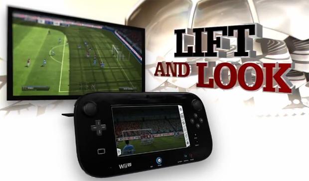 No Fifa 13 de Wii U será possível cobrar falta com a câmera do controle (Foto: Reprodução)
