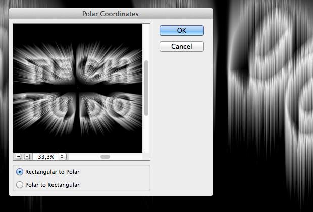 Box para nova aplicação do filtro Coordenadas Polares (Foto: Reprodução/André Sugai)