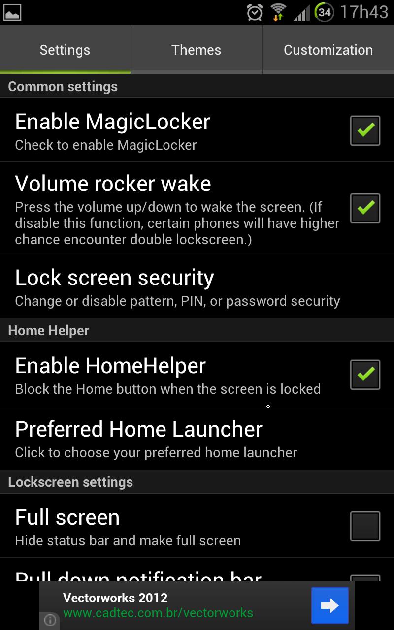 O MiLocker possui diversas opções de personalização (Foto: Reprodução) (Foto: O MiLocker possui diversas opções de personalização (Foto: Reprodução))