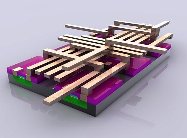 Figura 7: trecho do interior de um processador