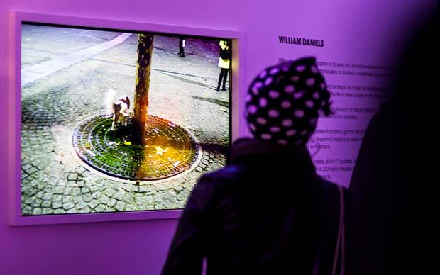 Visitantes da exibição puderam conferir mais de 200 imagens tiradas em tempo real (Foto: Reprodução)