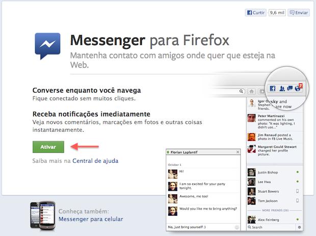 Ativando o Facebook para Firefox (Foto: Reprodução/Helito Bijora)