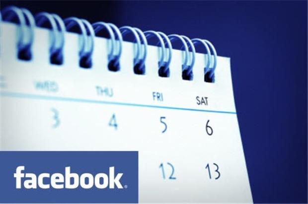 Eventos marcados pelo Facebook