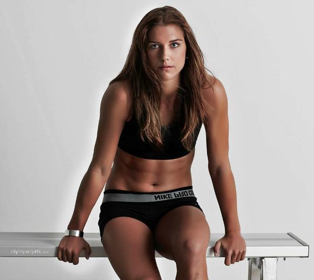 Alex Morgan, craque do futebol norte-americano, ficou em segundo (Foto: Reprodução/Olympic Girls)