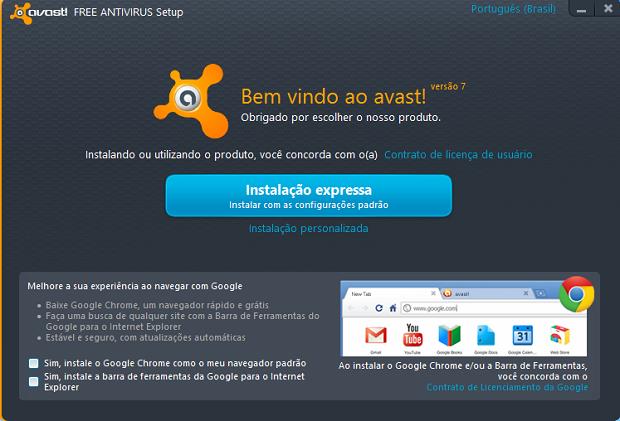 Instalação do Avast Antivirus (Foto: Reprodução/Helito Bijora)