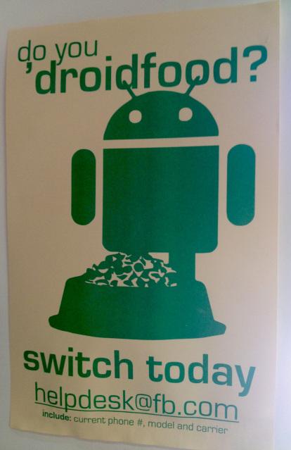 Campanha incentiva funcionários do Facebook a trocarem seus aparelhos por Android (Foto:Divulgação)