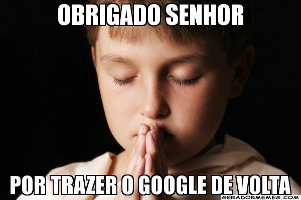 A volta dos servidores do Google também virou meme (Foto: Reprodução)