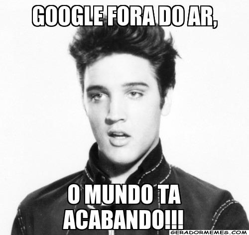 Queda dos serviços do Google virou meme na Internet (Foto: Reprodução)