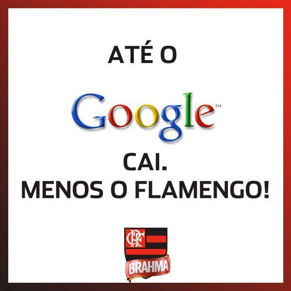 Piadas relacionando a queda do Google e tmes brasileiros como o Flamengo também circularam pela Internet (Foto: Reprodução)