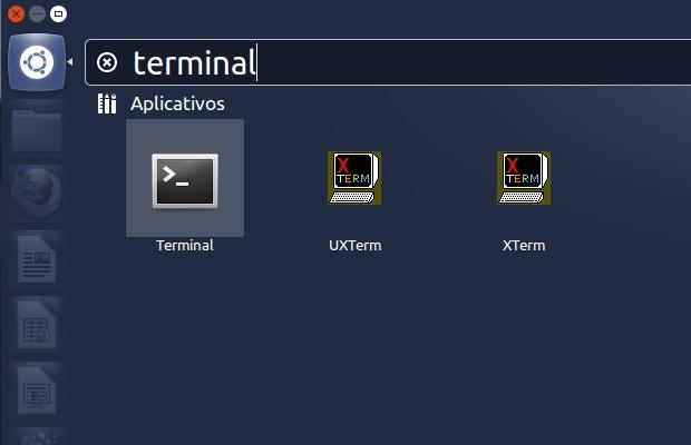 Abrindo um terminal no Ububtu (Foto: Reprodução/Edivaldo Brito)