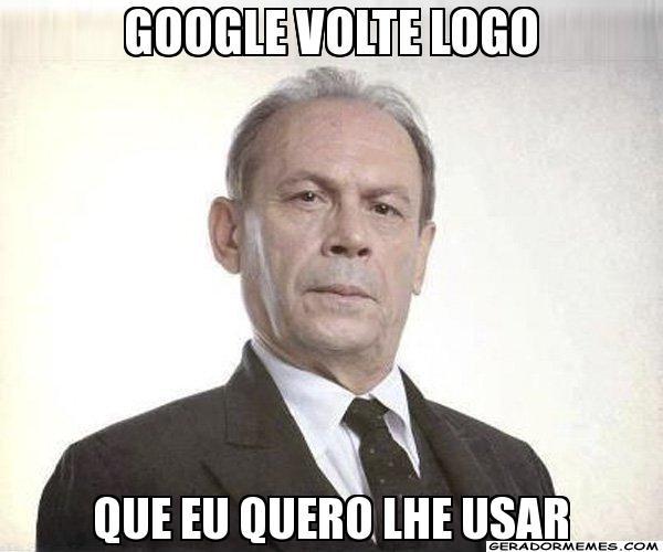 O bordão do persongem Jesuíno, da novela Gabriela, também virou meme sobre a queda dos serviços do Google (Foto: Reprodução)