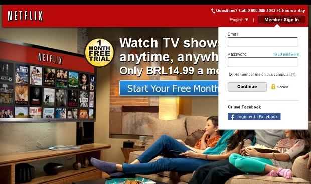 O Netflix sendo executado no Ubuntu (Foto: Reprodução/Edivaldo Brito)