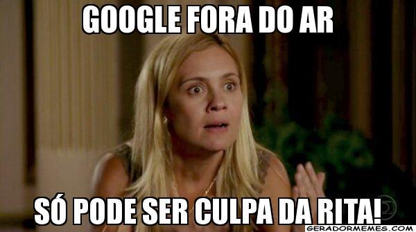 O bordão de Carminha, na novela 'Avenida Brasil' também virou meme com a queda do Google (Foto: Reprodução)