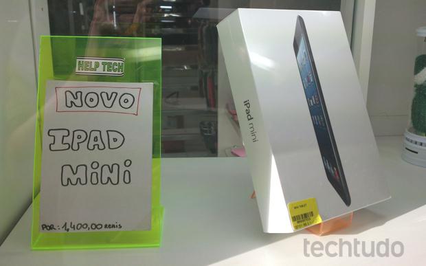 iPad mini à venda em loja de gadgets, no Rio de Janeiro (Foto: Allan Melo / TechTudo)