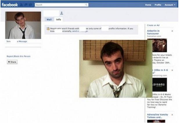 Rapaz faz réplica de xarás no Facebook