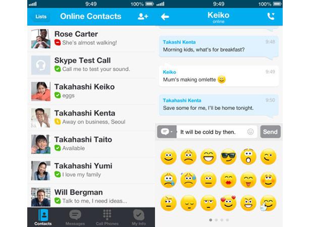 Skype para iOS ganhou novos recursos com update (Foto: Reprodução/Engadget)