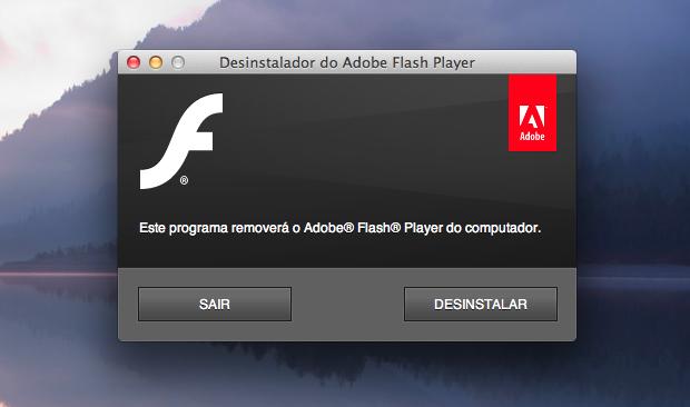 Desinstalando o Flash Player (Foto: Reprodução/Helito Bijora)
