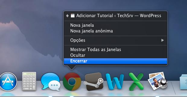 Encerrando navegadores abertos (Foto: Reprodução/Helito Bijora)