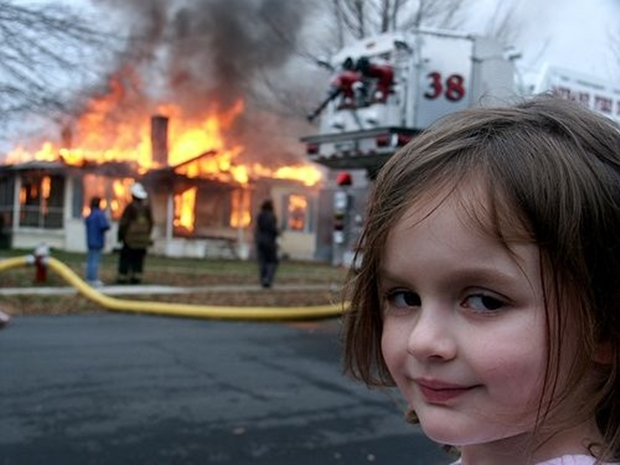 Foto que originou o meme Garota Disastre (Foto: Reprodução)