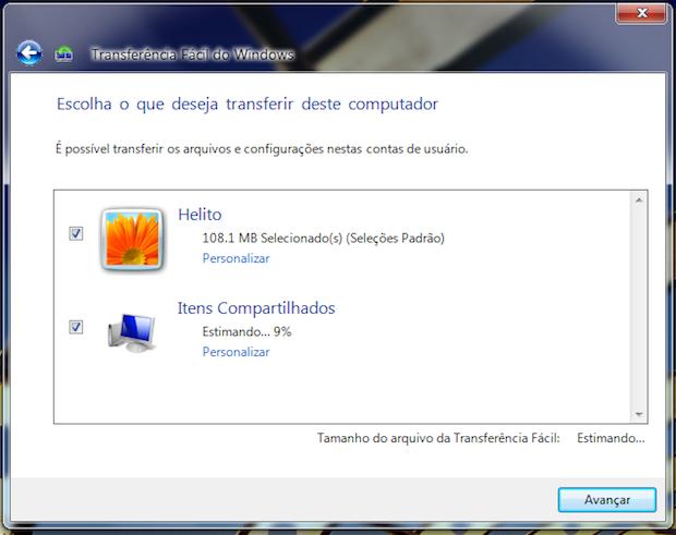 Escolhendo contas de usuário a serem transferidas (Foto: Reprodução/Helito Bijora)