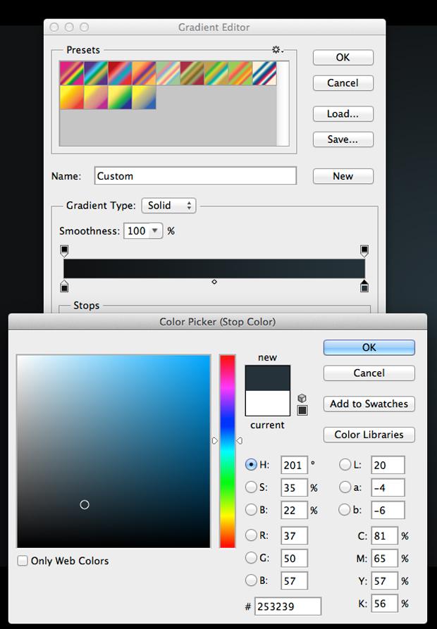 Defina a segunda cor do gradiente. (Foto: Reprodução/André Sugai)