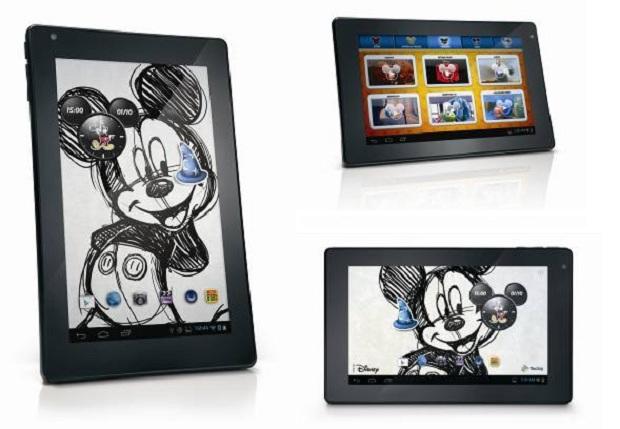 Tablet vem com temática de sucessos da Disney (Foto: Divulgação)