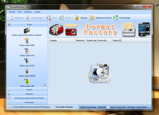 3 interface do format factory