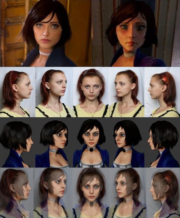 Irrational Games comparou Anna e Elizabeth e se impressionou com o resultado (Foto: Daily Hot)
