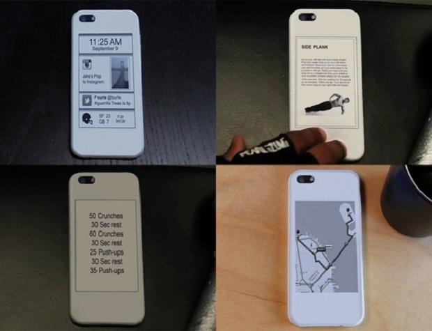 Case adiciona uma tela e-ink ao iPhone 5 (Foto: Divulgação)