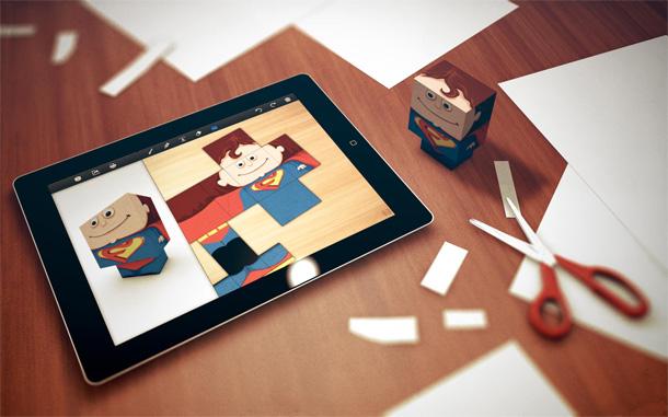 Crie facilmente bonecos de papel com o Foldify (Foto: Divulgação)