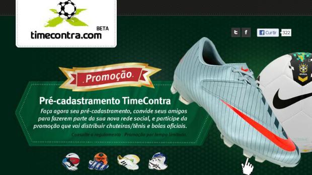 Time Contra permite criar times pela rede social (Foto: Reprodução/Thiago Barros)