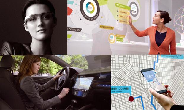 """Cenas do vídeo """"A Day Made of Glass"""", que imagina um futuro onde todos os objetos terão funções eletrônicas. (Foto: TechTudo/Giordano Tronco)"""